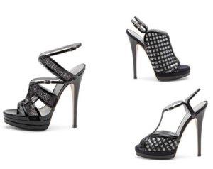 Spiky high heels