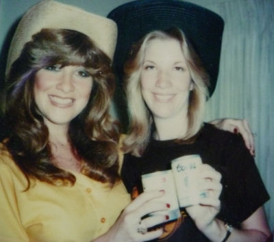 Sis and me after a trip to Texas way back when!
