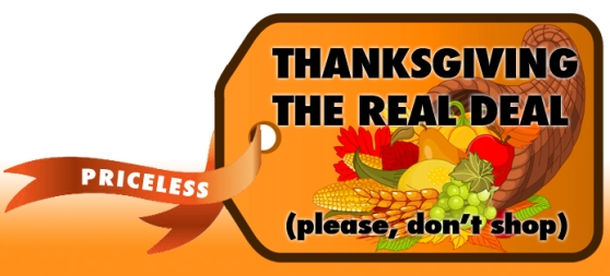 Don't shop on Thanksgiving Day!
