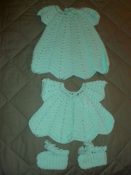 Baby set, mint green