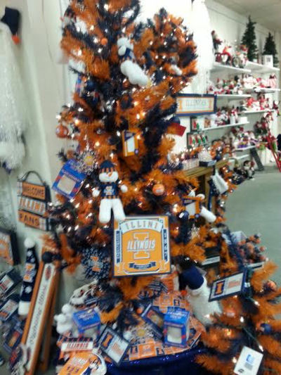 Illini Christmas tree