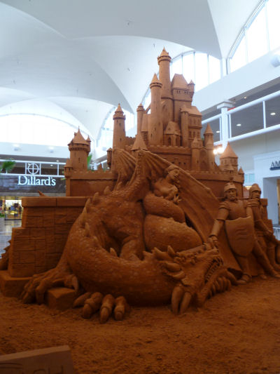 Sand sculpture at the mall, Biloxi, MS