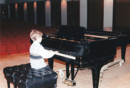 Little Domer after one of his piano recitals.