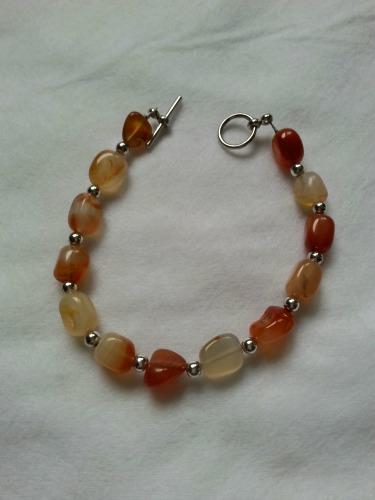 Bracelet I made using Carnelian stones