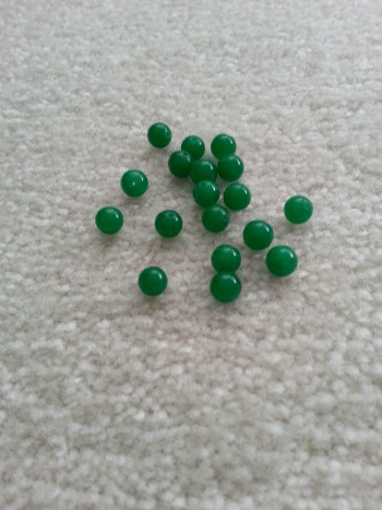 Round dyed emerald jade beads, 8 mm (the affordable option!)